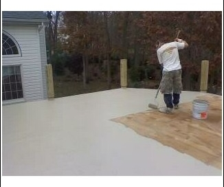 foreman jim putting finish coat _mill stone_